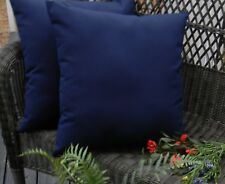 2 Pack ~ Navy Blue Decorative Indoor Outdoor Throw Toss Pillow Made In USA