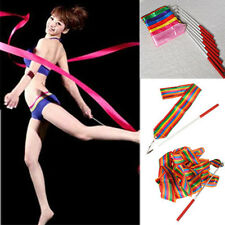 4M Dance Ribbon Gym Rhythmic Art Gymnastic Ballet Streamer Twirling Rod US