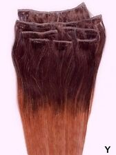 7pcs Clip In 100% HUMA HAIR Ombre Hair Extensions #T4/33