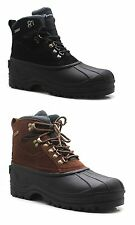 Men's Winter Snow Boots Shoes Genuine Leather Thermo Insulated Waterproof Warm