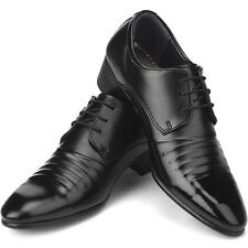 New Italian Style Dress Casual Lace Up Mens Shoes Black