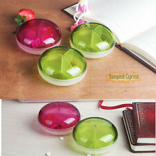 Clear Cute Round Pill Boxes Vitamin Medicine Beads Organizer Case Travel Compact