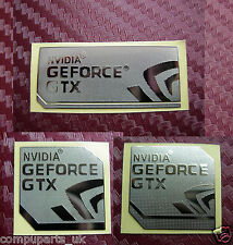 NVIDIA GeForce GTX Metal Foil Custom Sticker 4 ur PC or LAPTOP Badge Logo