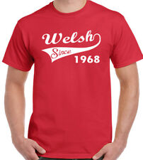 Welsh Since 1965 - Mens Funny 50th Birthday T-Shirt - Rugby Football Flag Wales