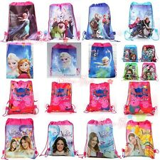 Disney Frozen Monster Minions Peppa PE Environmental Drawstring Bag Pop Backpack