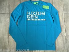 HUGO BOSS Mens Crew Long Sleeve T-Shirt Graphic TOGN 5 BOSS Green New With Tags