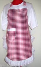 KIDS PERSONALISED GINGHAM APRON Made to fit Most colors up to 12years of age