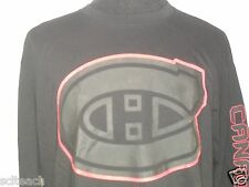 Brand New w/Tags Black Long Sleeve Majestic Montreal Canadiens Hockey T-Shirt.