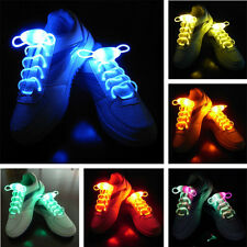 Hot LED Shoelaces Shoe Laces Flash Light Up Glow Stick Strap Shoelaces Colorful