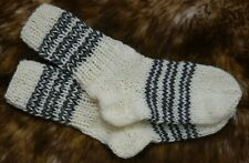 26 cm / 10.23 Length Socks 100% Pure Natural Sheep's Wool Hand Knitted