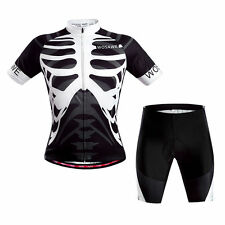 Men's Cycling Short Sleeve Jersey 3D Gel Padded Shorts Tights MTB Bike Bicycle