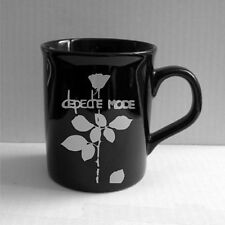 DEPECHE MODE black mug hand painted new