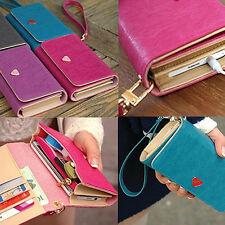 High Quality New Card Wallet Purse Case Cover For Samsung Galaxy S2 S3 Iphone 4S