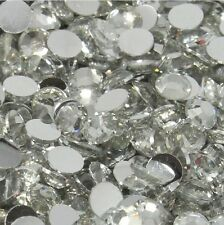 Any Size Glass Crystal Clear Non Hotfix Flatback Rhinestones SS12, SS16, SS20