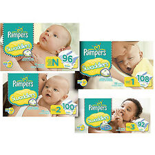 Pampers Swaddlers Diapers Size 1, 2, 3, 4, 5, 6 CHEAP!!!
