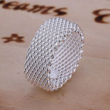 Promotion wholesale Solid 925 Sterling Silver Jewelry net wedding Ring LR040