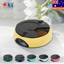 6 Meal Digital Program Dispenser LCD Automatic Pet Feeder Dog Cat Food Bowl