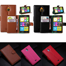 For Nokia X2 Dual Sim Luxury Leather Card Wallet Stand Case Protector Cover