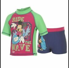 Disney 2 Piece SwimSet ~ Mickey Mouse ~  Boys Top & Trunks ~ 2 To 8 Years