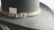 Fancy Crystal Silver Hatband Rodeo Horse Show Club Western English Queen Belted