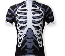 New Black Cycling Short Sleeve Jersey Bike Bicycle Coolmax Clothing Shirt Only