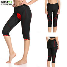 Women's Cycling Bicycle Bike Capri Shorts 3D Padded 3/4 Pants Tights S-XL Ladies
