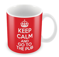 KEEP CALM and go to the Pub - Coffee Cup Gift Idea present funny drinking