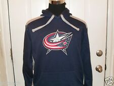 Brand New Columbus Blue Jackets Majestic Long Sleeve Hooded Sweatshirt Hoodie