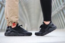 NIKE AIR HUARACHE 2014 TRIPLE BLACK ALL SIZES BNIB EXCLUSIVE LE DS 6 7 8 9 10 11