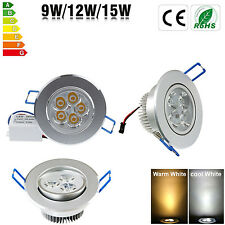 Bombillas 9W 12W 15W LED Ceiling Recessed Panel Down Light Spotlight With Driver