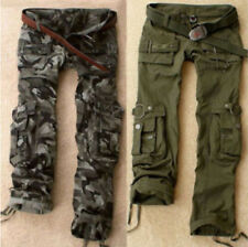 Hot Women's Military Army Green Camo Cargo Pocket Pants Leisure Outdoor Trousers