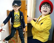 Newest Kids Boys COOL Clothing Cotton R letter Long Sleeve Coats Jackets Sz2-7Y