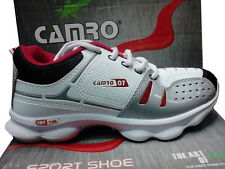 Camro New Sports Cool White, Grey and Red Running Shoes