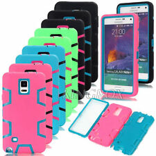 High Impact Rubber Hard Combo Shockproof Armor Case For Samsung Galaxy Note 4