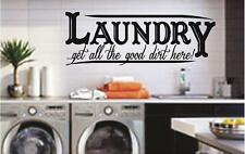 LAUNDRY - get all the good dirt here! - Room Wall Decals - Stickers Quotes