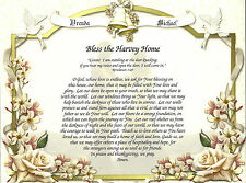 Bless This Home Personalized Prayer Poem Couples Housewarming Wedding Shower