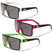 NEW DG Eyewear 2-Tone Mens Oversized Shield Designer Sunglasses Pick Your Color