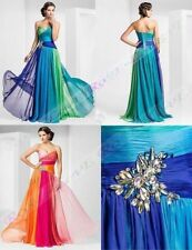 Long Chiffon Evening Formal Party Ball Prom Bridesmaid Dress STOCK Size 6-16