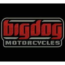 EMBROIDERED PATCH BIGDOG MOTORCYCLES PARCHE BORDADO