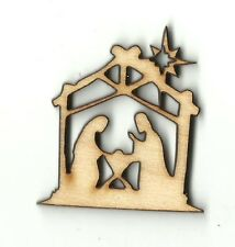 Nativity Scene Unfinished Wood Shapes Craft Supply Laser Cut Outs DIY 383