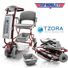 Tzora Classic Lexis Light Folding Mobility Travel Scooter NEW + FREE ACCESSORIES