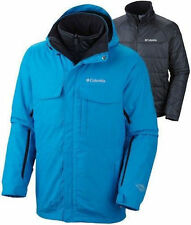 COLUMBIA MENS 3 IN 1 INTERCHANGE  WINTER JACKET/COAT REMOVABLE LINER S-M-L-XL