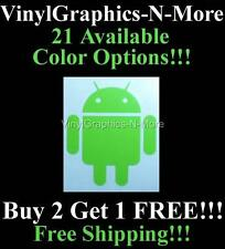 Android Droid Google OS Character Cell Phone Robot Logo Vinyl Decal Sticker TB