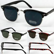 New Retro Classic Clubmaster Wayfarer Gold Accent Sunglasses Mens Womens Fashion
