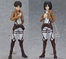 Anime Attack On Titan Eren Jaeger Mikasa Ackerman Action Figure