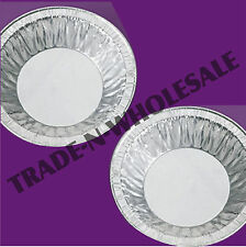 """INDIVIDUAL 4½"""" FOIL PIE DISHES, CASES, ROUND, FRUIT PIES, DISH, DISPOSABLE TRAY"""