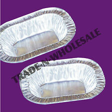 """SMALL 5"""" FOIL PIE DISHES INDIVIDUAL TRADITIONAL STEAK PIES RECTANGLE OBLONG DISH"""