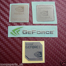 NVIDIA GeForce Metal Foil Custom Sticker 4 ur PC or LAPTOP Badge Logo