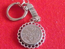 LUCKY SIXPENCE SNAKE CHAIN PENDANT ANY YEAR £2.99  BIRTHDAY BIRTH YEAR GIFT