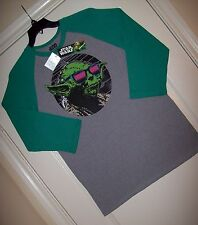 Yoda Star Wars Fifth Sun Licensed Awesome! 3/4- Sleeved T-Shirt  New